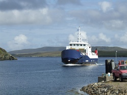 Ferry to Fetlar from Yell.