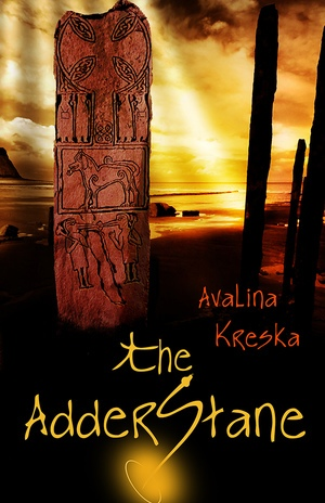 "Front cover of the novel ""The AdderStane"""