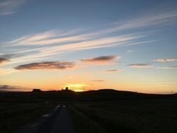 Sunset over Brough Lodge