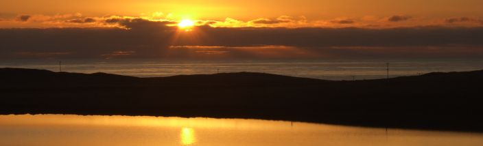 Sunset over Fetlar