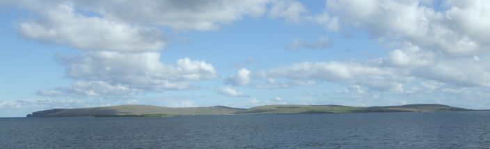 View of Fetlar from the sea